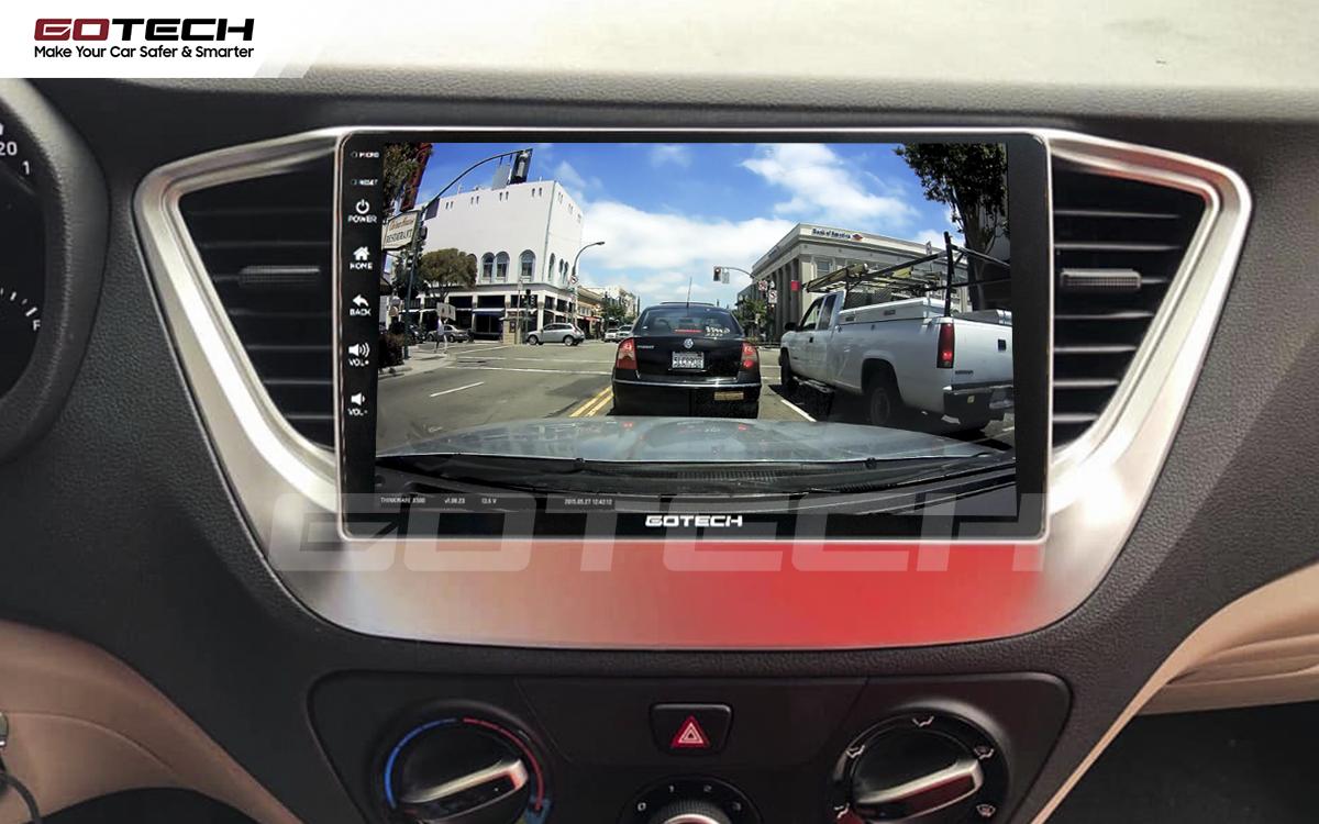 Kết nối với camera hành trình trên màn hình android GOTECH cho xe Hyundai Accent 2018-2020