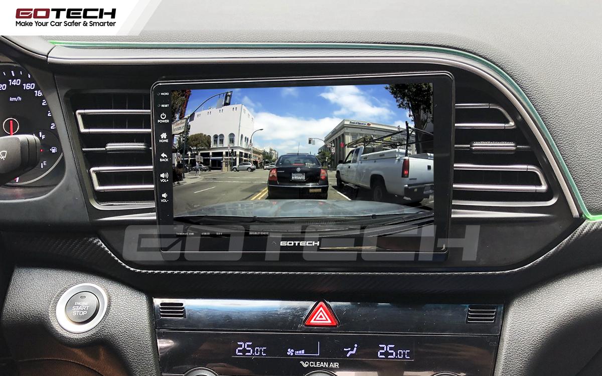 Kết nối với camera hành trình trên màn hình android GOTECH cho xe Hyundai Elantra 2019-2020