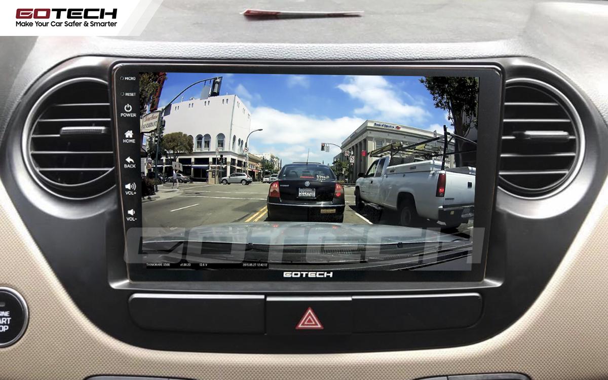 Kết nối với camera hành trình trên màn hình android GOTECH cho xe Hyundai i10 2014-2019