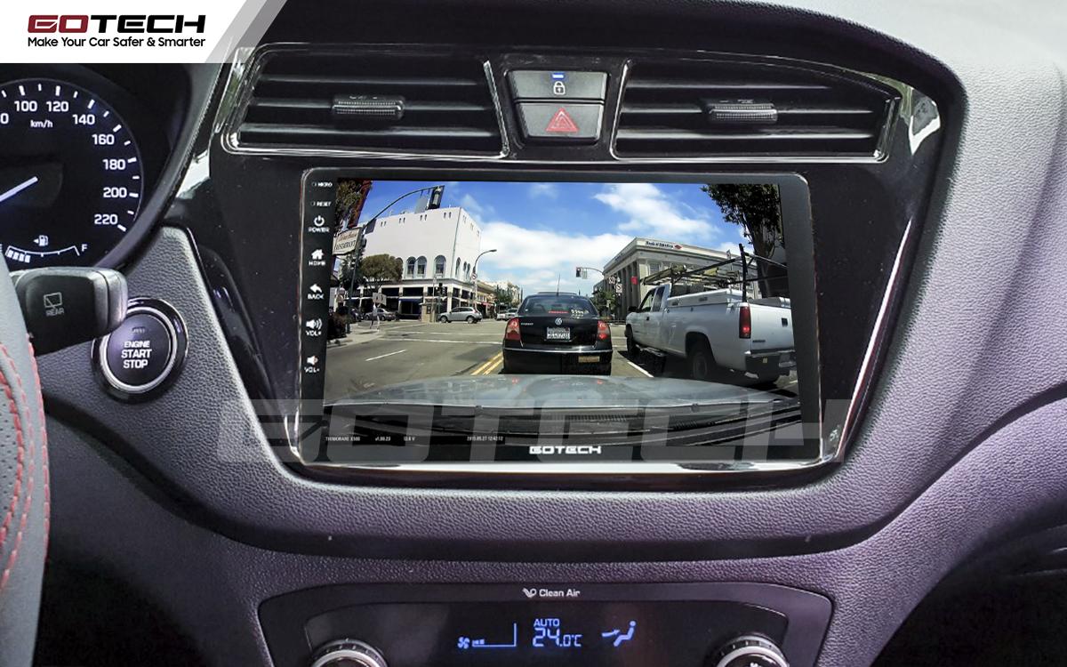 Kết nối với camera hành trình trên màn hình android GOTECH cho xe Hyundai i20 Active 2015-2018