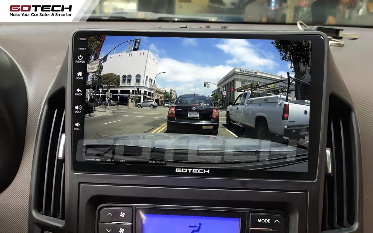 Kết nối với camera hành trình trên màn hình android GOTECH cho xe Hyundai i30 2008-2013