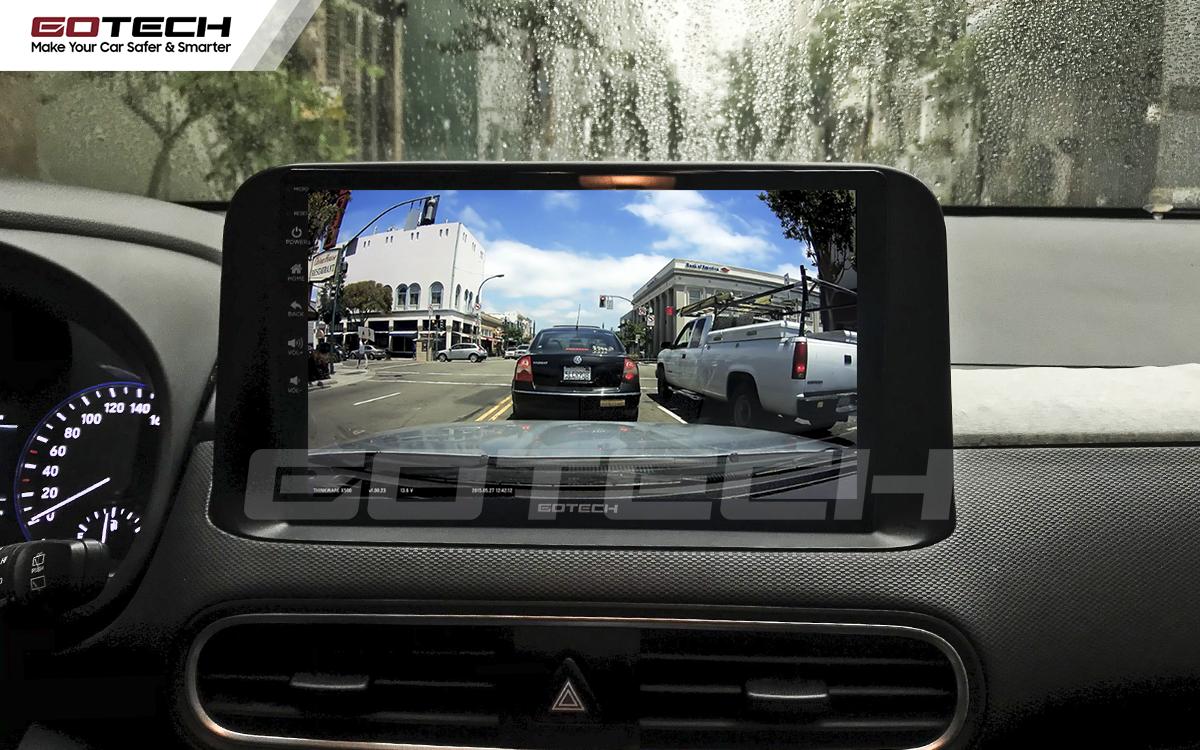 Kết nối với camera hành trình trên màn hình android GOTECH cho xe Hyundai Kona 2018-2020