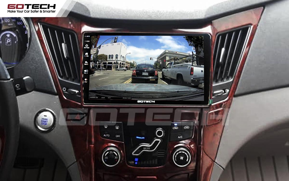 Kết nối với camera hành trình trên màn hình android GOTECH cho xe Hyundai Sonata 2010-2013