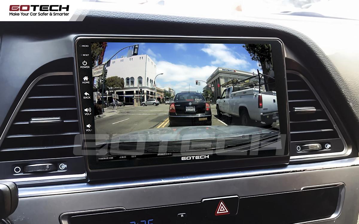 Kết nối với camera hành trình trên màn hình android GOTECH cho xe Hyundai Sonata 2015-2018