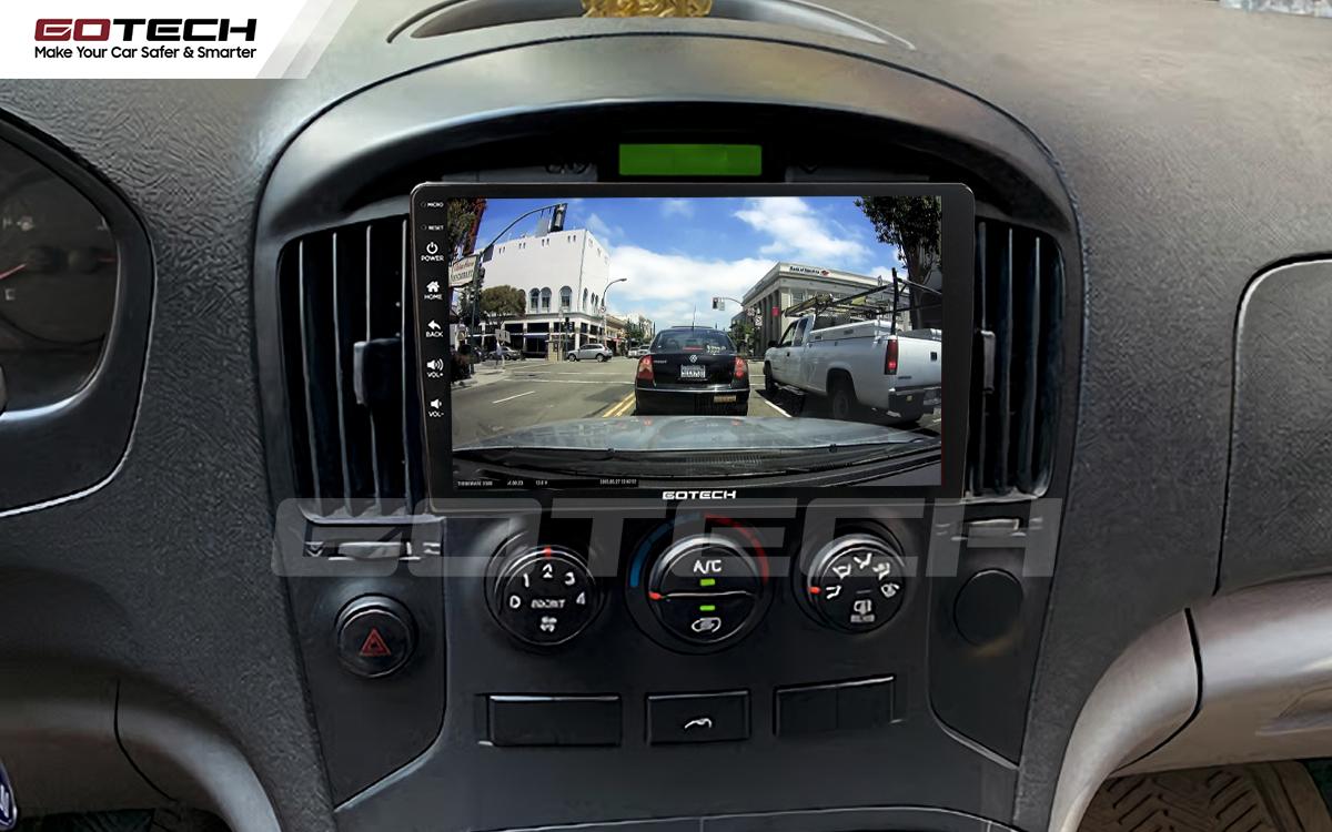 Kết nối với camera hành trình trên màn hình android GOTECH cho xe Hyundai Starex 2016-2019