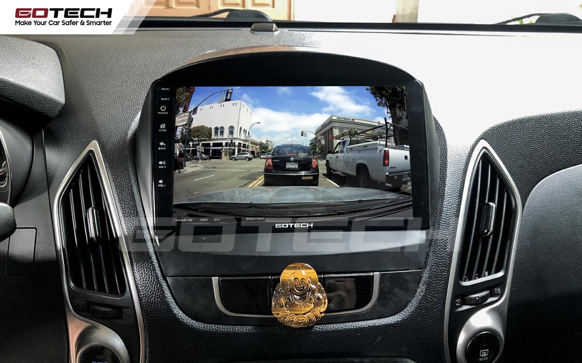 Kết nối với camera hành trình trên màn hình android GOTECH cho xe Hyundai Tucson 2010-2014