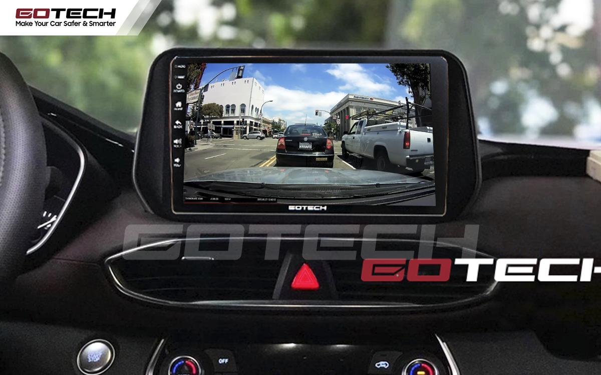 Kết nối với camera hành trình trên màn hình android GOTECH cho xe Hyundai Tucson 2019-2020
