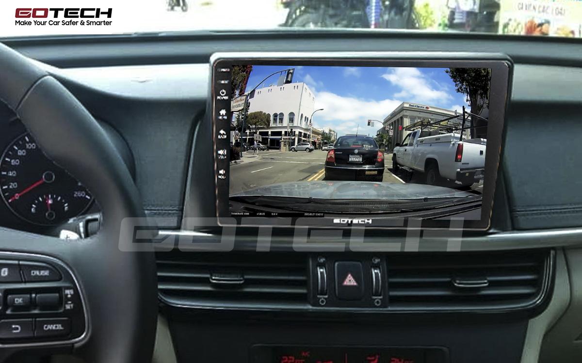 Kết nối với camera hành trình trên màn hình android GOTECH cho xe Kia K5 Optima 2017-2020
