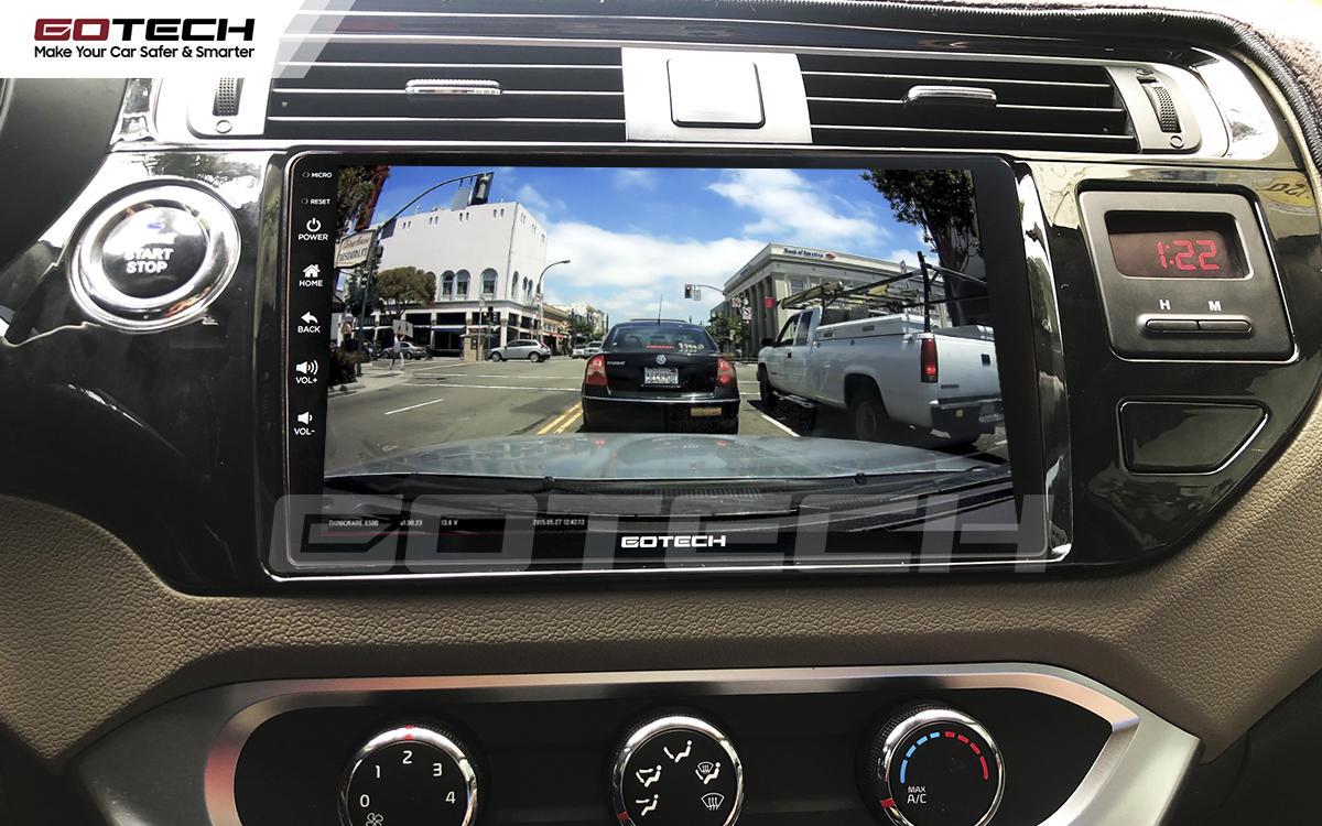 Kết nối với camera hành trình trên màn hình android GOTECH cho xe Kia Rio 2016-2018