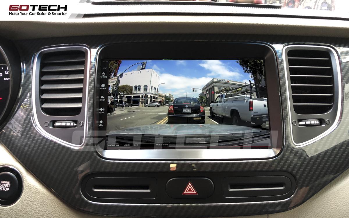 Kết nối với camera hành trình trên màn hình android GOTECH cho xe Kia Rondo 2014-2020