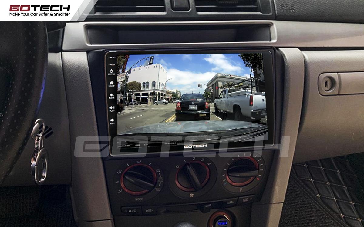 Kết nối với camera hành trình trên màn hình android GOTECH cho xe Mazda 3 2004-2009