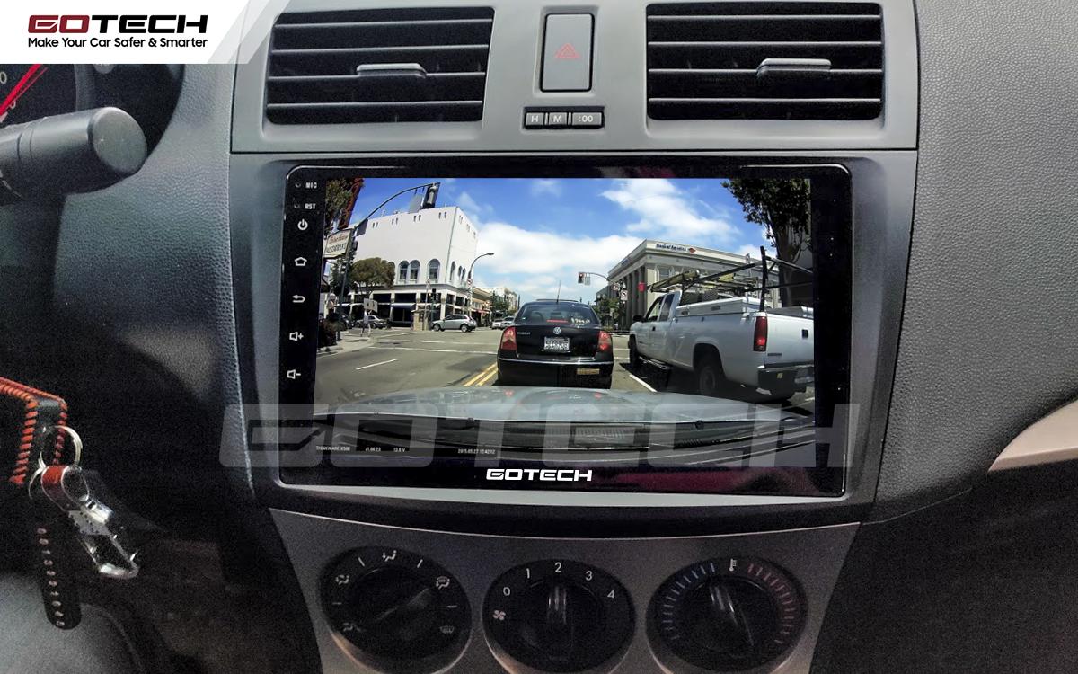 Kết nối với camera hành trình trên màn hình android GOTECH cho xe Mazda 3 2010-2013