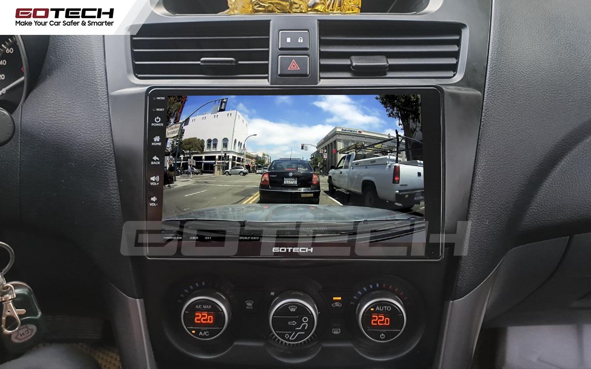Kết nối với camera hành trình trên màn hình android GOTECH cho xe Mazda BT50 2012-2018