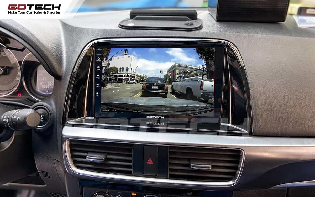 Kết nối với camera hành trình trên màn hình android GOTECH cho xe Mazda Cx5 2016-2017