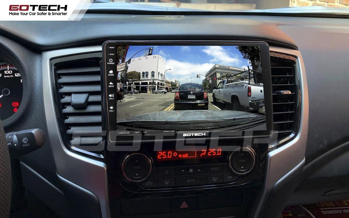 Kết nối với camera hành trình trên màn hình android GOTECH cho xe Mitsubishi Triton 2019-2020