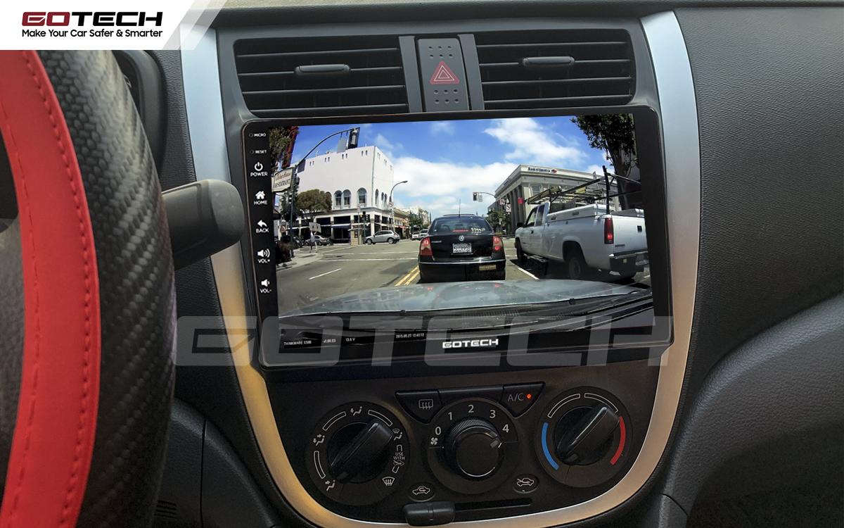 Kết nối với camera hành trình trên màn hình android GOTECH cho xe Suzuki Celerio 2018-2020