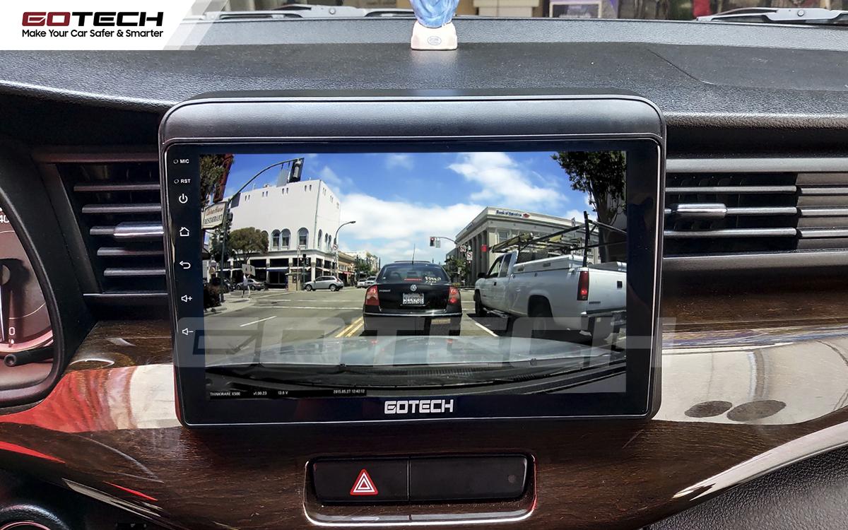 Kết nối với camera hành trình trên màn hình android GOTECH cho xe Suzuki Ertiga 2019-2020