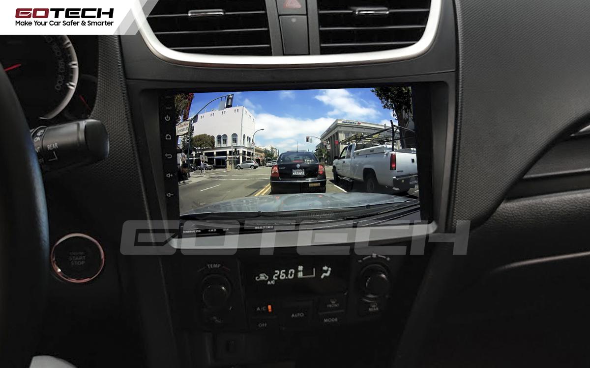 Kết nối với camera hành trình trên màn hình android GOTECH cho xe Suzuki Swift 2013-2017