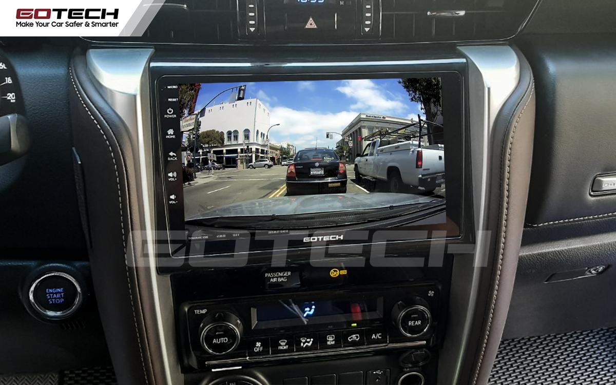 Kết nối với camera hành trình trên màn hình android GOTECH cho xe Toyota Fortuner 2017-2020