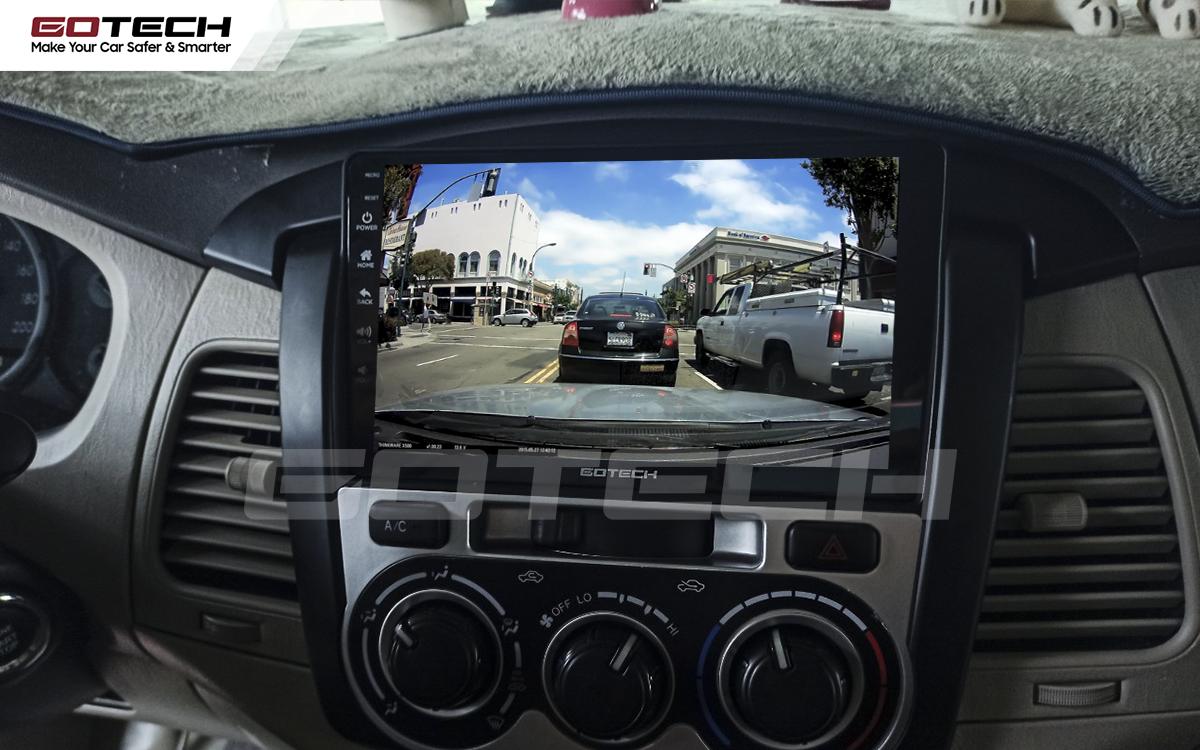 Kết nối với camera hành trình trên màn hình android GOTECH cho xe Toyota Innova 2012-2016