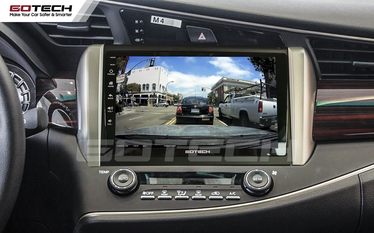 Kết nối với camera hành trình trên màn hình android GOTECH cho xe Toyota Innova 2018-2020