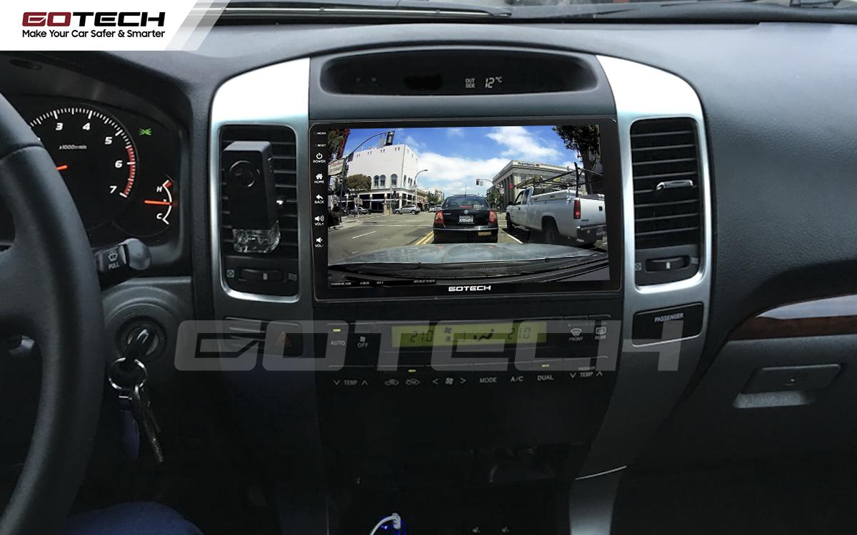 Kết nối với camera hành trình trên màn hình android GOTECH cho xe Toyota Land Cruiser 2003-2007
