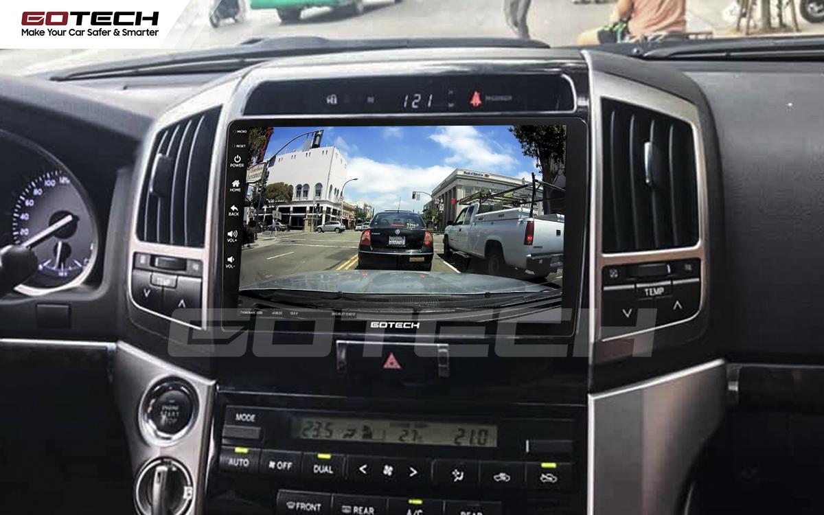 Kết nối với camera hành trình trên màn hình android GOTECH cho xe Toyota Land Cruiser 2008-2015