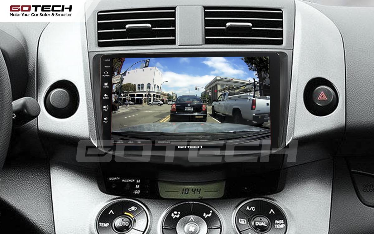 Kết nối với camera hành trình trên màn hình android GOTECH cho xe Toyota Rav4 2006-2011