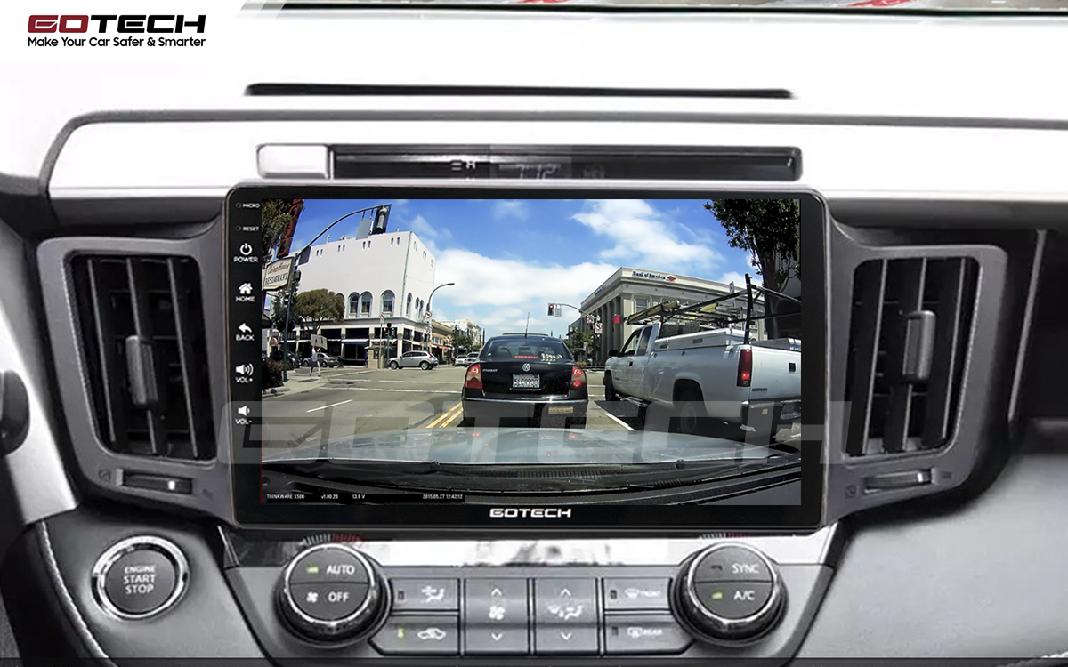 Kết nối với camera hành trình trên màn hình android GOTECH cho xe Toyota Rav4 2013-2014
