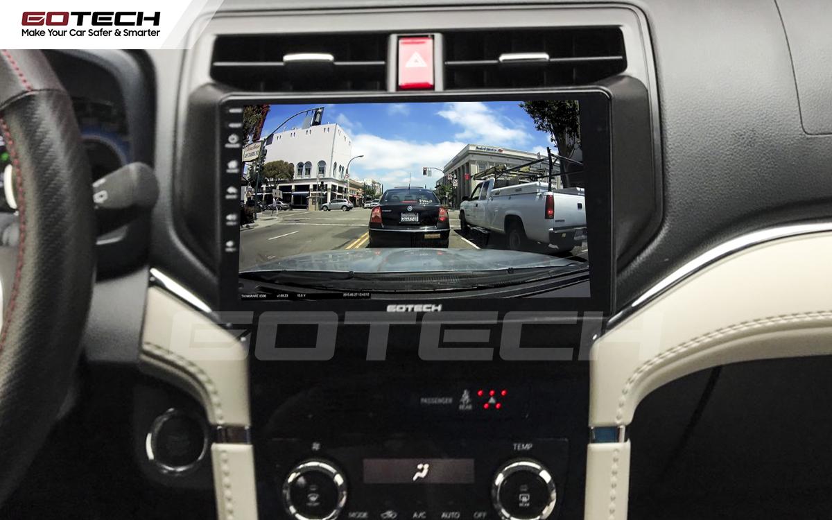 Kết nối với camera hành trình trên màn hình android GOTECH cho xe Toyota Rush 2018-2020