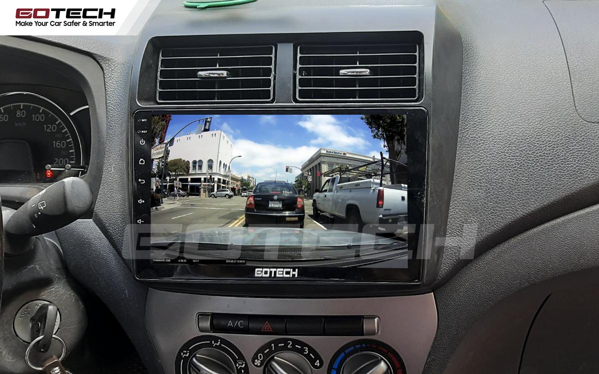 Kết nối với camera hành trình trên màn hình android GOTECH cho xe Toyota Wigo 2018-2020