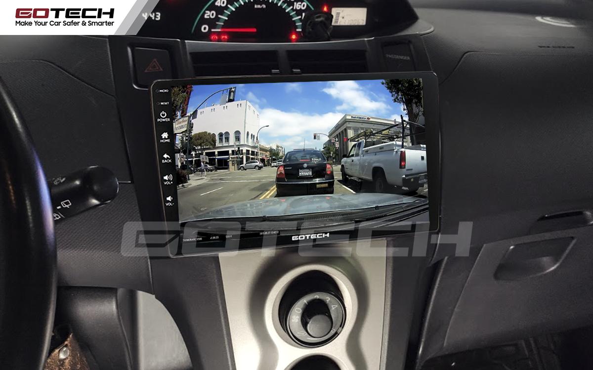 Kết nối với camera hành trình trên màn hình android GOTECH cho xe Toyota Yaris Hatchback 2005-2013