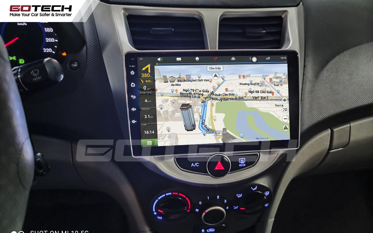 Tích hợp các bản đồ dẫn đường thông minh và thao tác dễ dàng cho xe Hyundai Accent 2011-2016