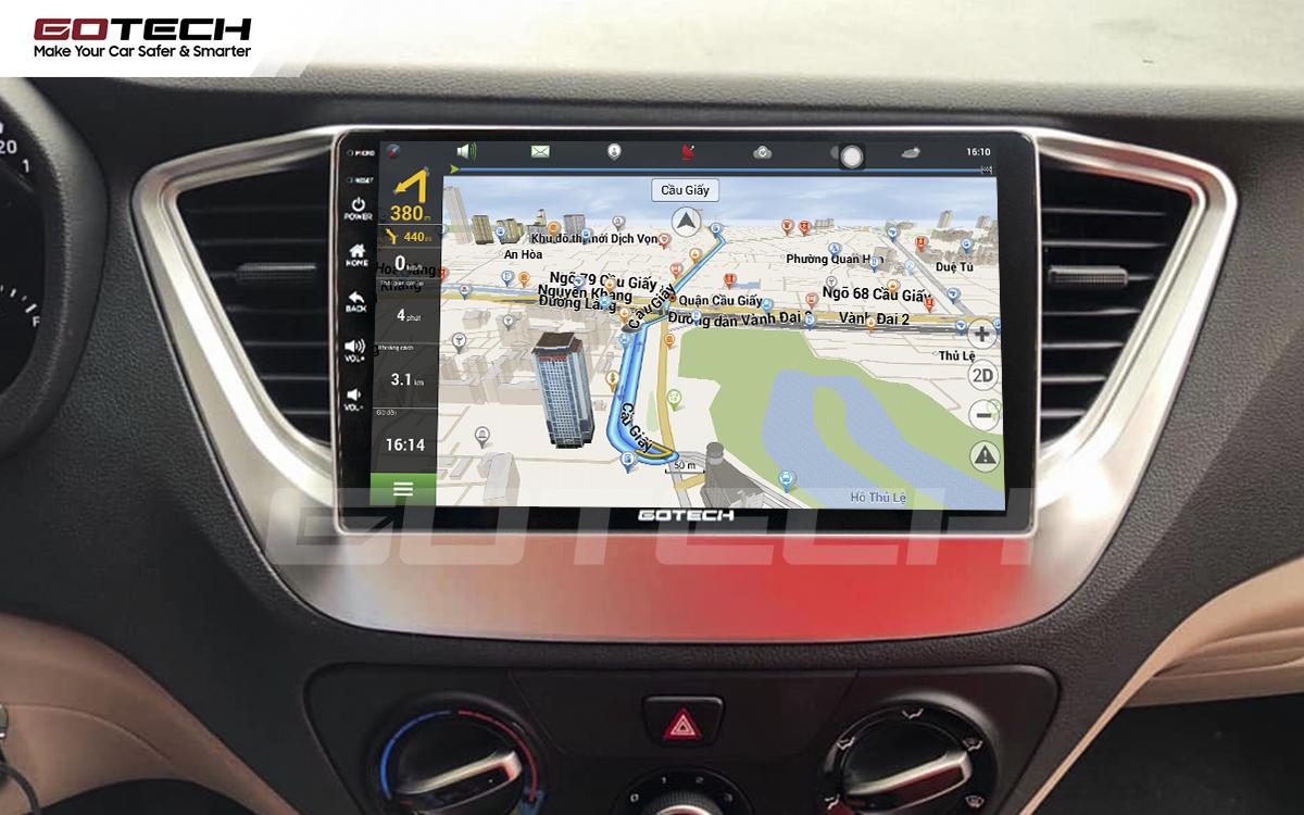 Tích hợp các bản đồ dẫn đường thông minh và thao tác dễ dàng cho xe Hyundai Accent 2018-2020