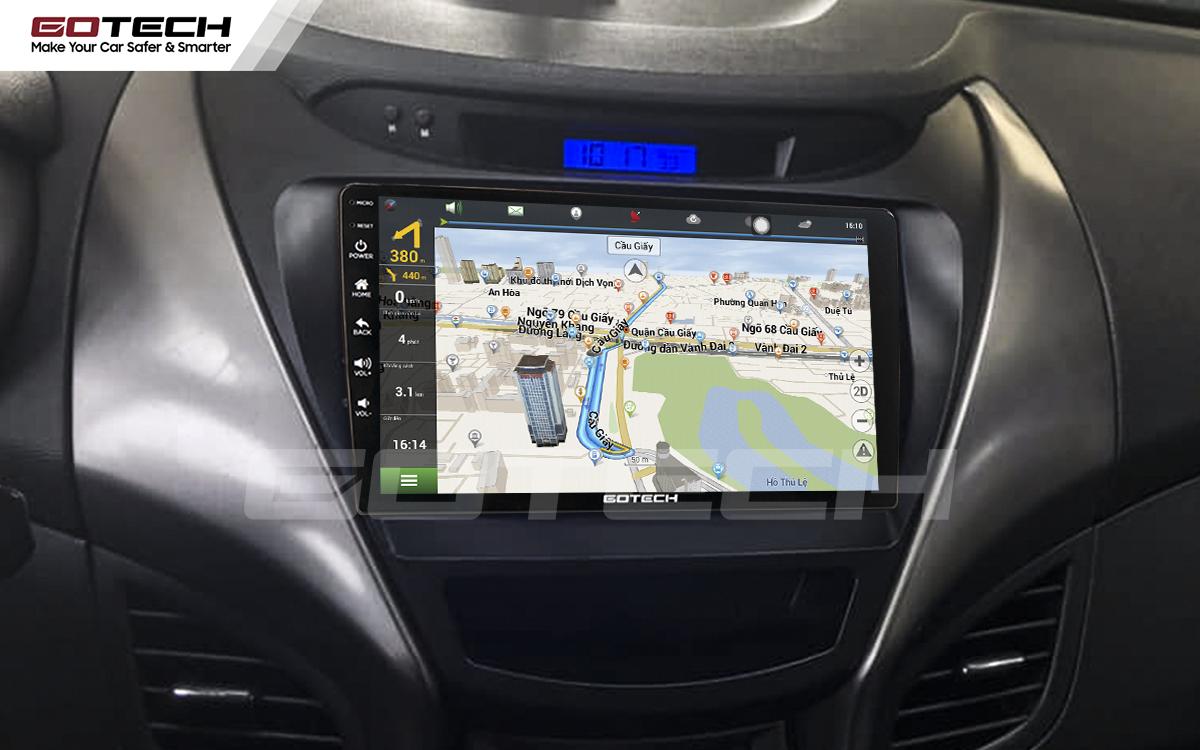 Tích hợp các bản đồ dẫn đường thông minh và thao tác dễ dàng cho xe Hyundai Elantra 2013-2015
