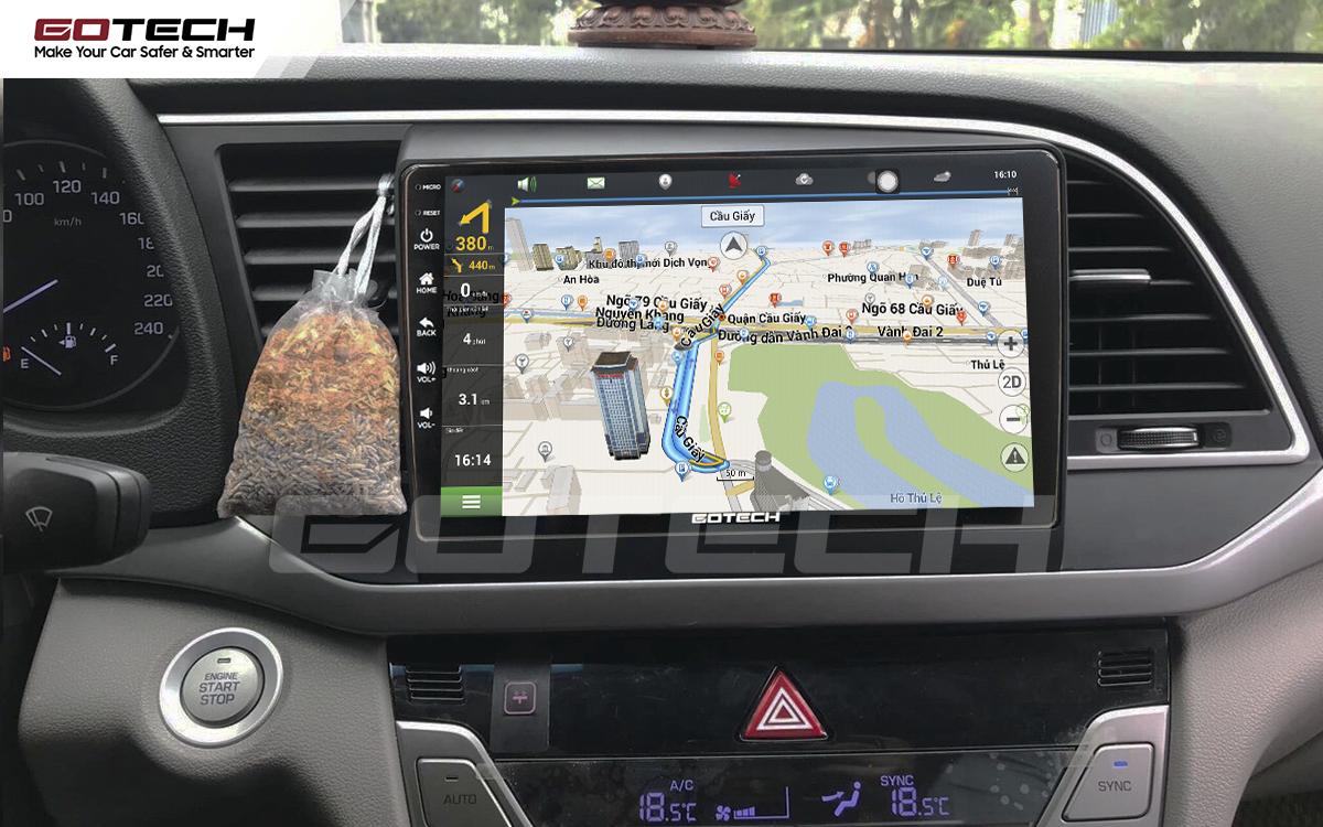 Tích hợp các bản đồ dẫn đường thông minh và thao tác dễ dàng cho xe Hyundai Elantra 2016-2018