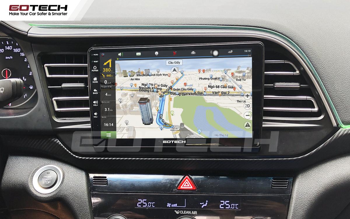 Tích hợp các bản đồ dẫn đường thông minh và thao tác dễ dàng cho xe Hyundai Elantra 2019-2020