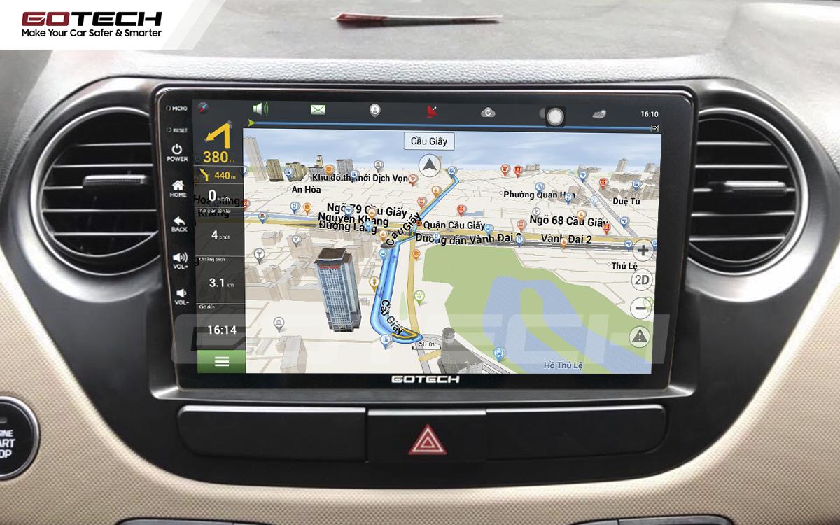 Tích hợp các bản đồ dẫn đường thông minh và thao tác dễ dàng cho xe Hyundai i10 2014-2019