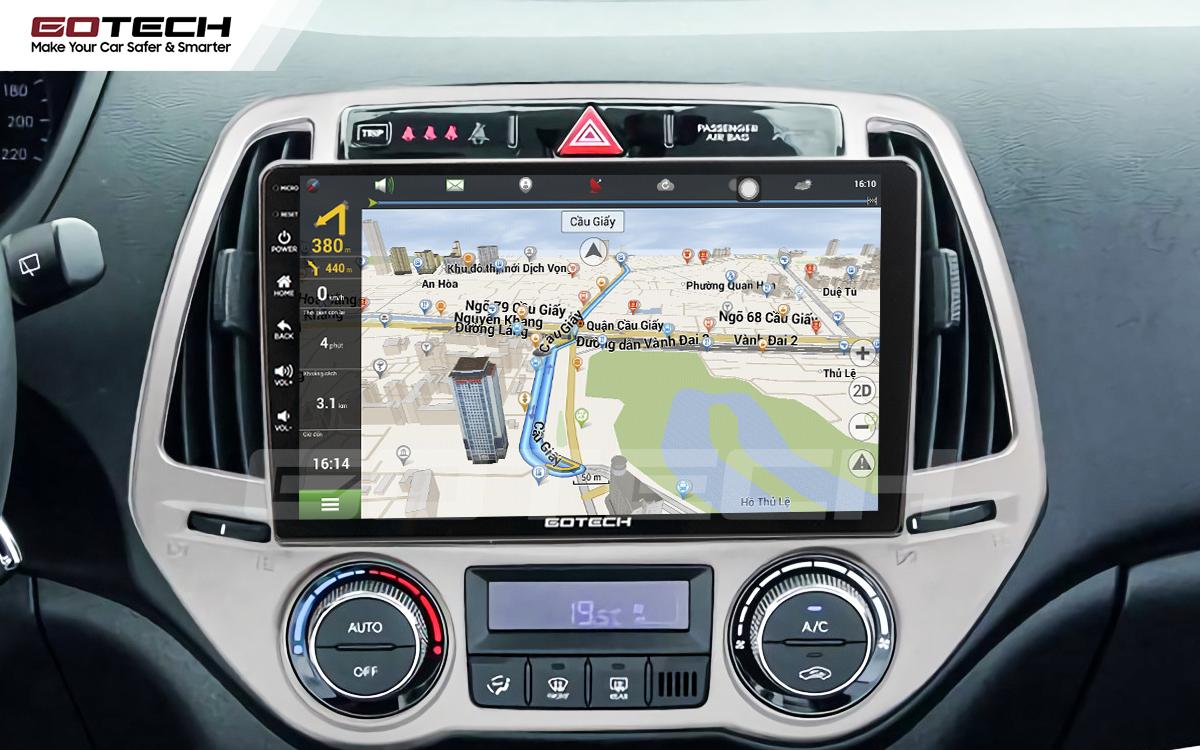 Tích hợp các bản đồ dẫn đường thông minh và thao tác dễ dàng cho xe Hyundai i20 2013-2014