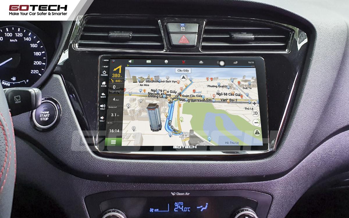 Tích hợp các bản đồ dẫn đường thông minh và thao tác dễ dàng cho xe Hyundai i20 Active 2015-2018
