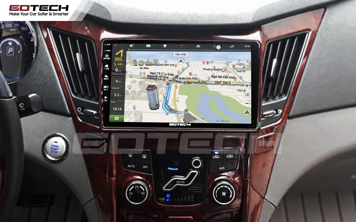Tích hợp các bản đồ dẫn đường thông minh và thao tác dễ dàng cho xe Hyundai Sonata 2010-2013