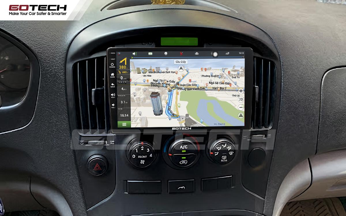 Tích hợp các bản đồ dẫn đường thông minh và thao tác dễ dàng cho xe Hyundai Starex 2016-2019