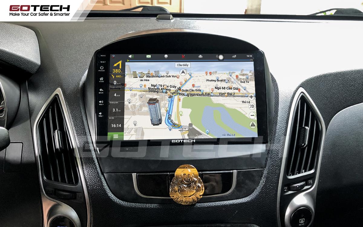 Tích hợp các bản đồ dẫn đường thông minh và thao tác dễ dàng cho xe Hyundai Tucson 2010-2014