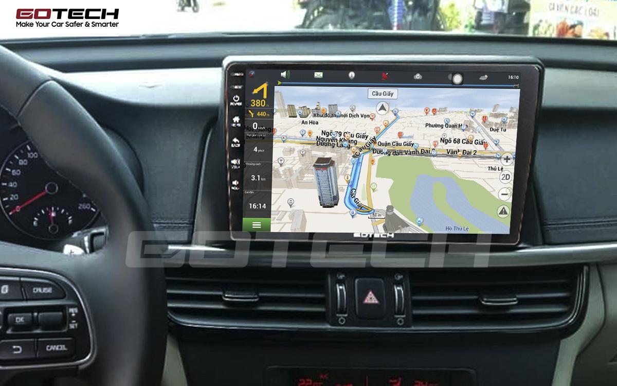 Tích hợp các bản đồ dẫn đường thông minh và thao tác dễ dàng cho xe Kia K5 Optima 2017-2020
