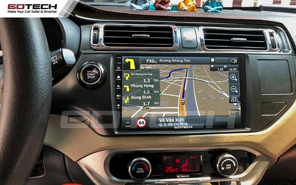 Tích hợp các bản đồ dẫn đường thông minh và thao tác dễ dàng cho xe Kia Rio 2012-2014