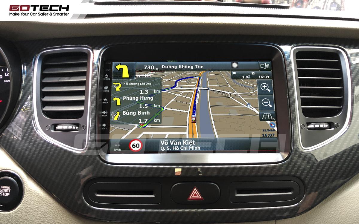 Tích hợp các bản đồ dẫn đường thông minh và thao tác dễ dàng cho xe Kia Rondo 2014-2020