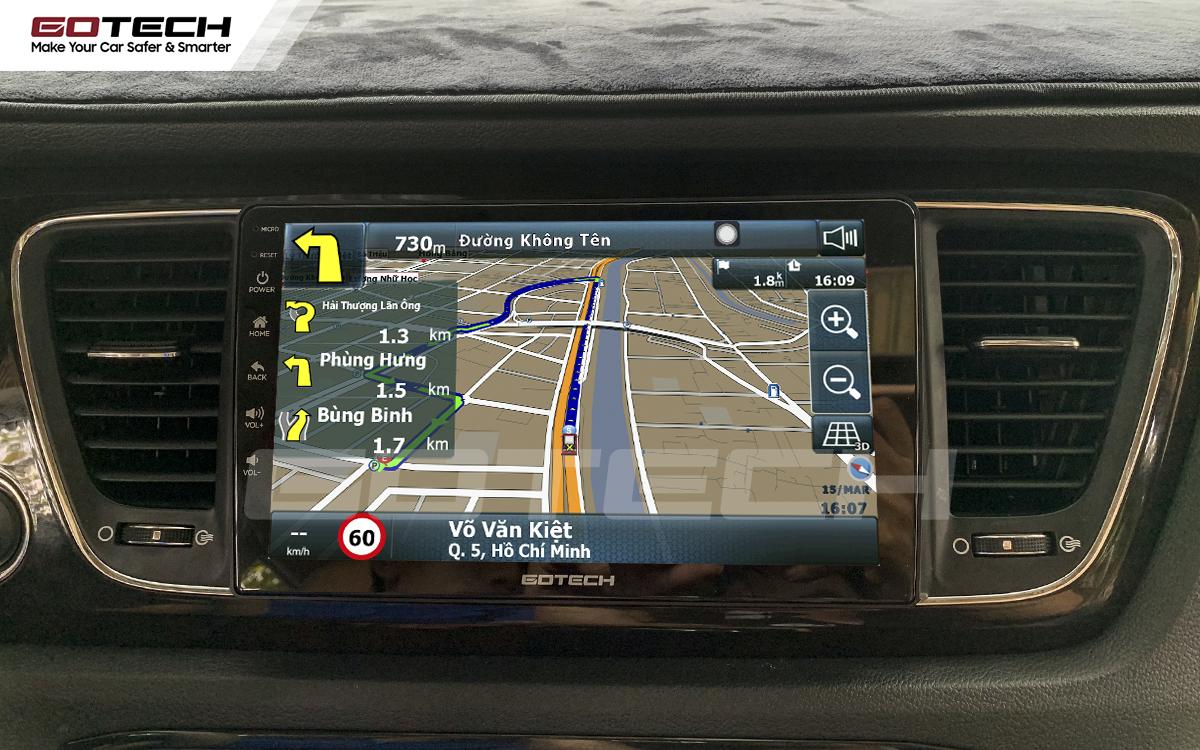 Tích hợp các bản đồ dẫn đường thông minh và thao tác dễ dàng cho xe Kia Sedona 2015-2020