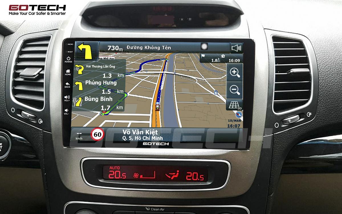 Tích hợp các bản đồ dẫn đường thông minh và thao tác dễ dàng cho xe Kia Sorento 2014-2020