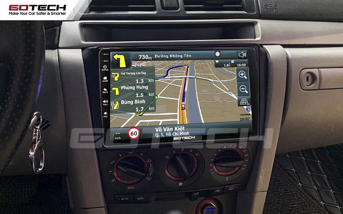 Tích hợp các bản đồ dẫn đường thông minh và thao tác dễ dàng cho xe Mazda 3 2004-2009