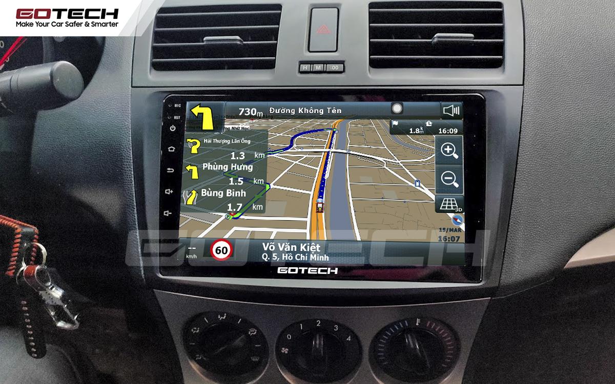 Tích hợp các bản đồ dẫn đường thông minh và thao tác dễ dàng cho xe Mazda 3 2010-2013